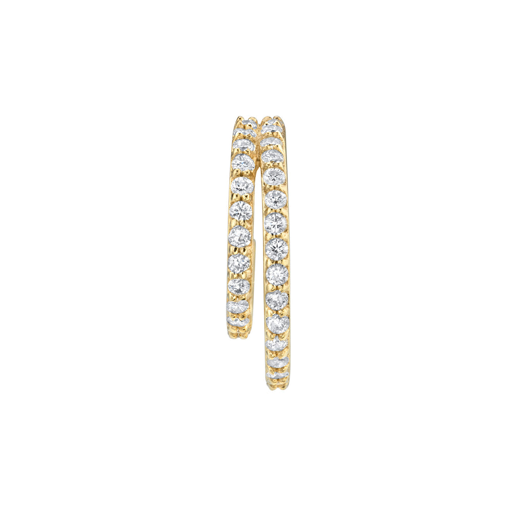 DIAMOND DOUBLE PAVÉ HOOP EARRING