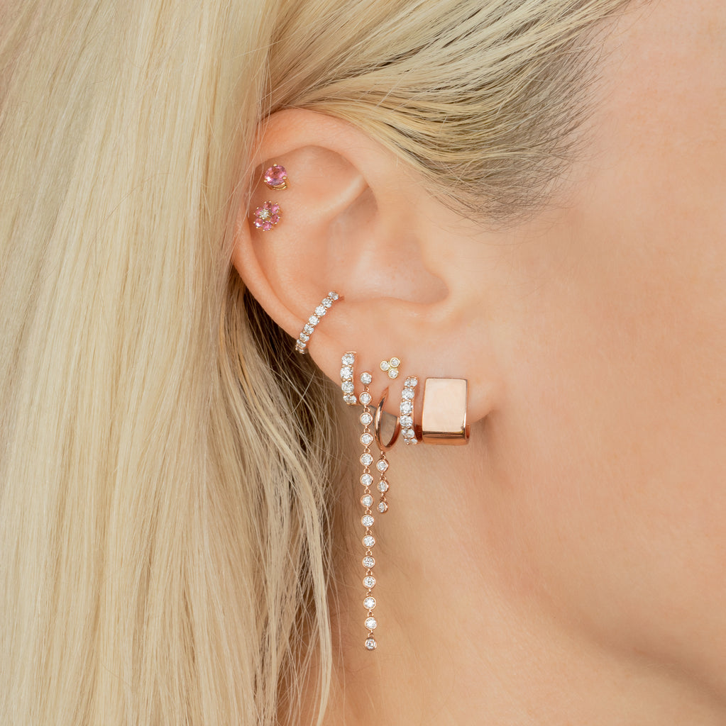 DIAMOND SMALL BIGGIE EARRING