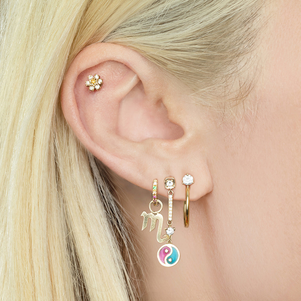 RAINBOW SMALL HUGGIE EARRING