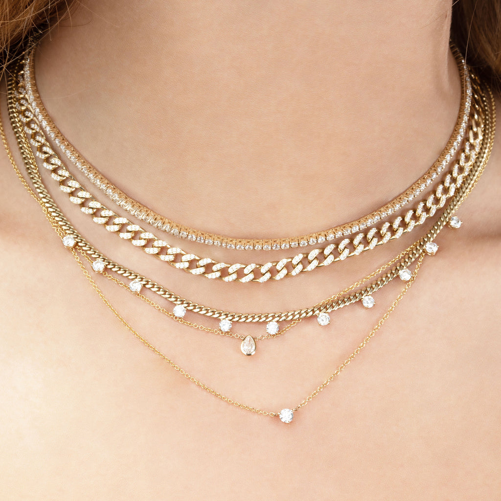 DIAMOND LINKED DARLING NECKLACE
