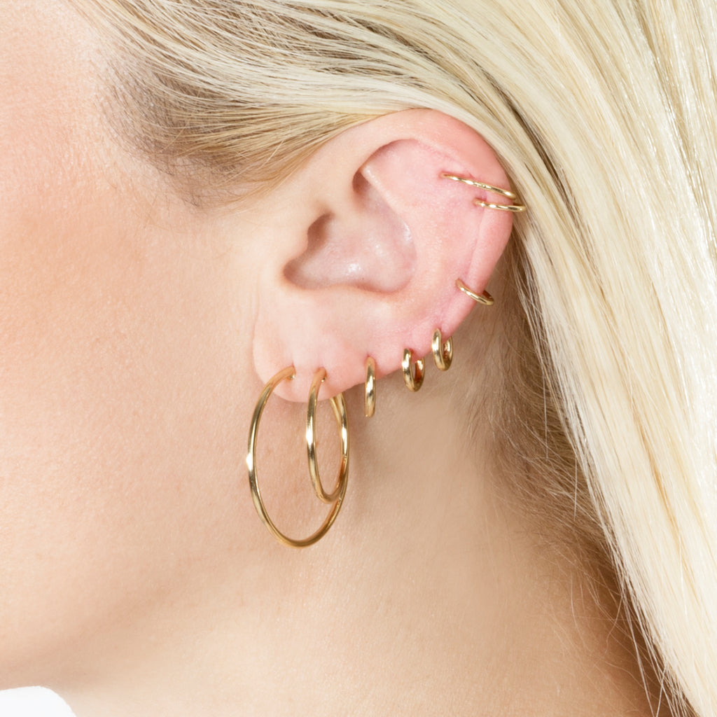 GOLD SLIM HOOP #2 EARRING