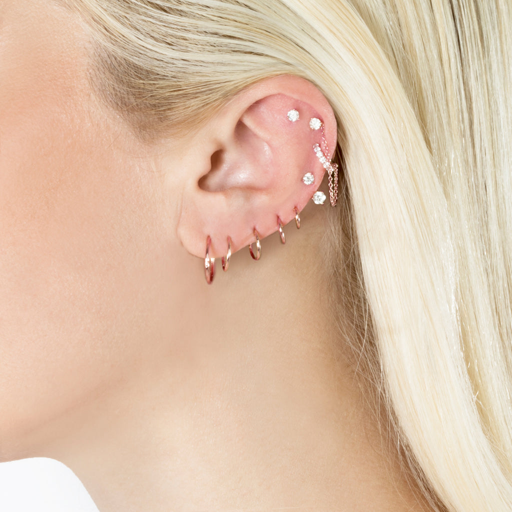 ROSE GOLD SMALL SEAMLESS HOOP EARRING