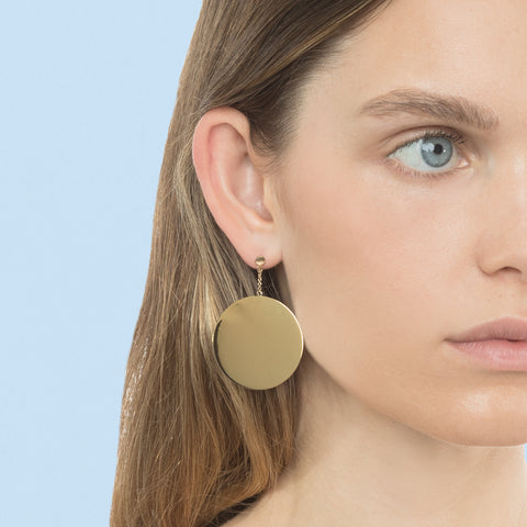DOUBLE DISC DROP EARRING