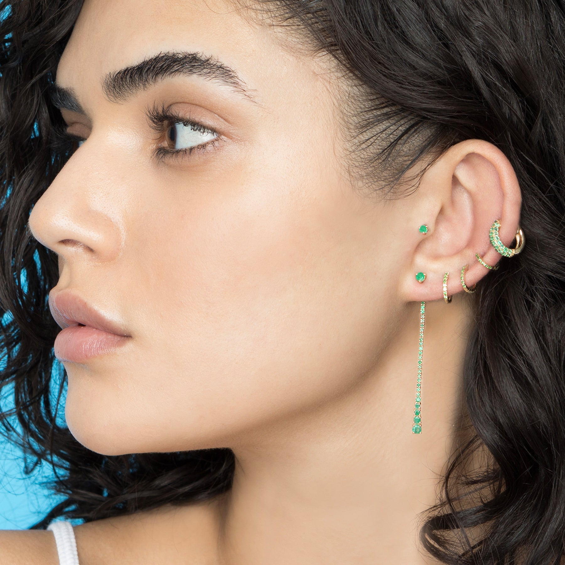 EMERALD DEW DROP EARRING
