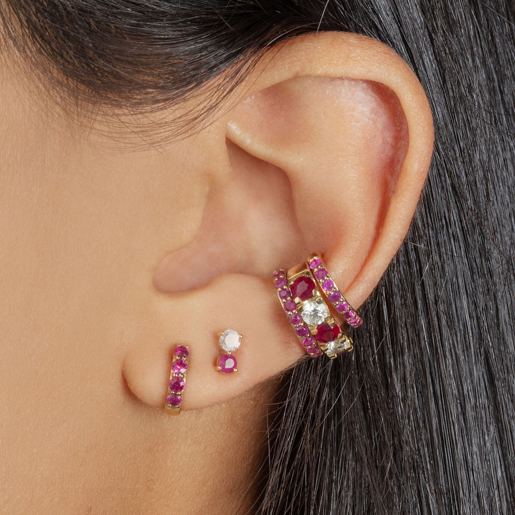 RUBY SMALL BIGGIE EARRING
