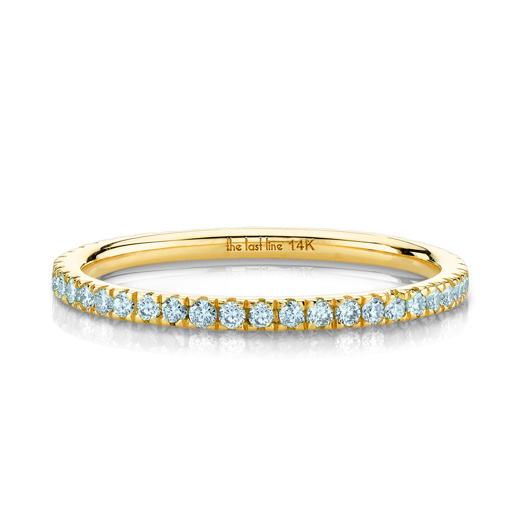 PERFECT AQUAMARINE ETERNITY BAND