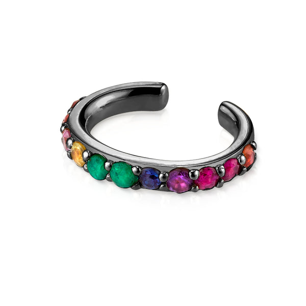 BLACK GOLD RAINBOW PERFECT EAR CUFF