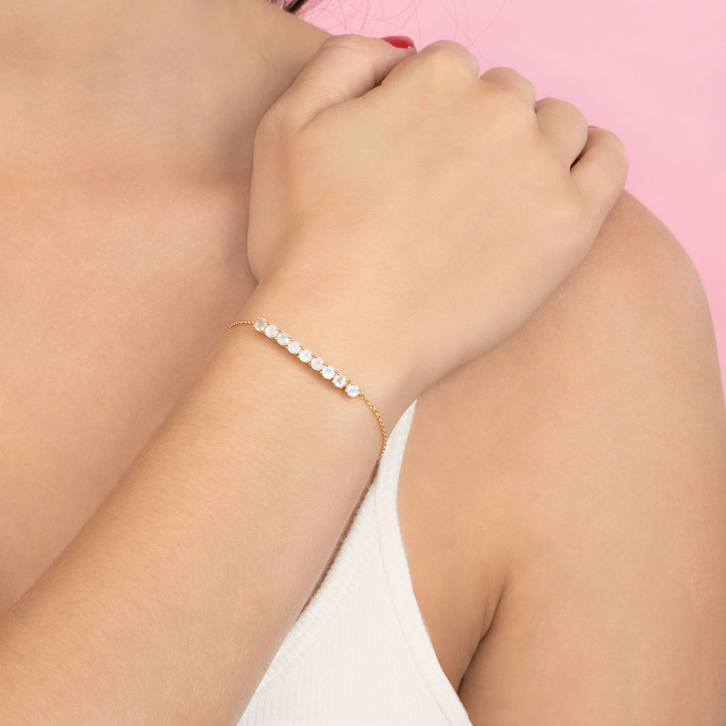MOONSTONE MINI TENNIS BRACELET