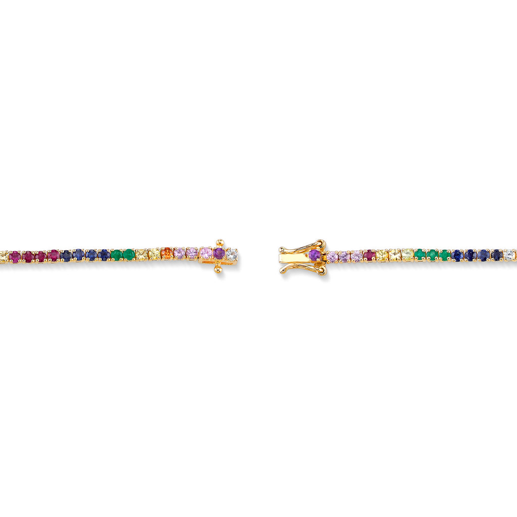 RAINBOW TENNIS ANKLET