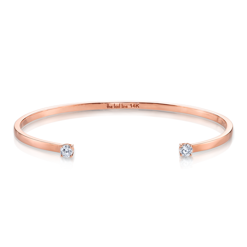 DOUBLE DIAMOND SOLITAIRE OPEN CUFF