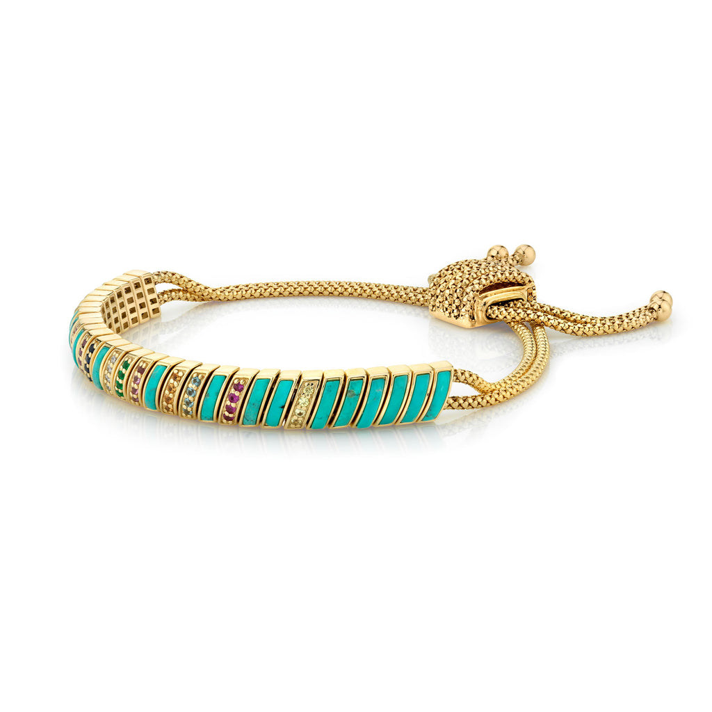 RAINBOW AND TURQUOISE SNAKE BRACELET