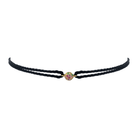 RAINBOW PAVE SPHERE FRIENDSHIP BRACELET