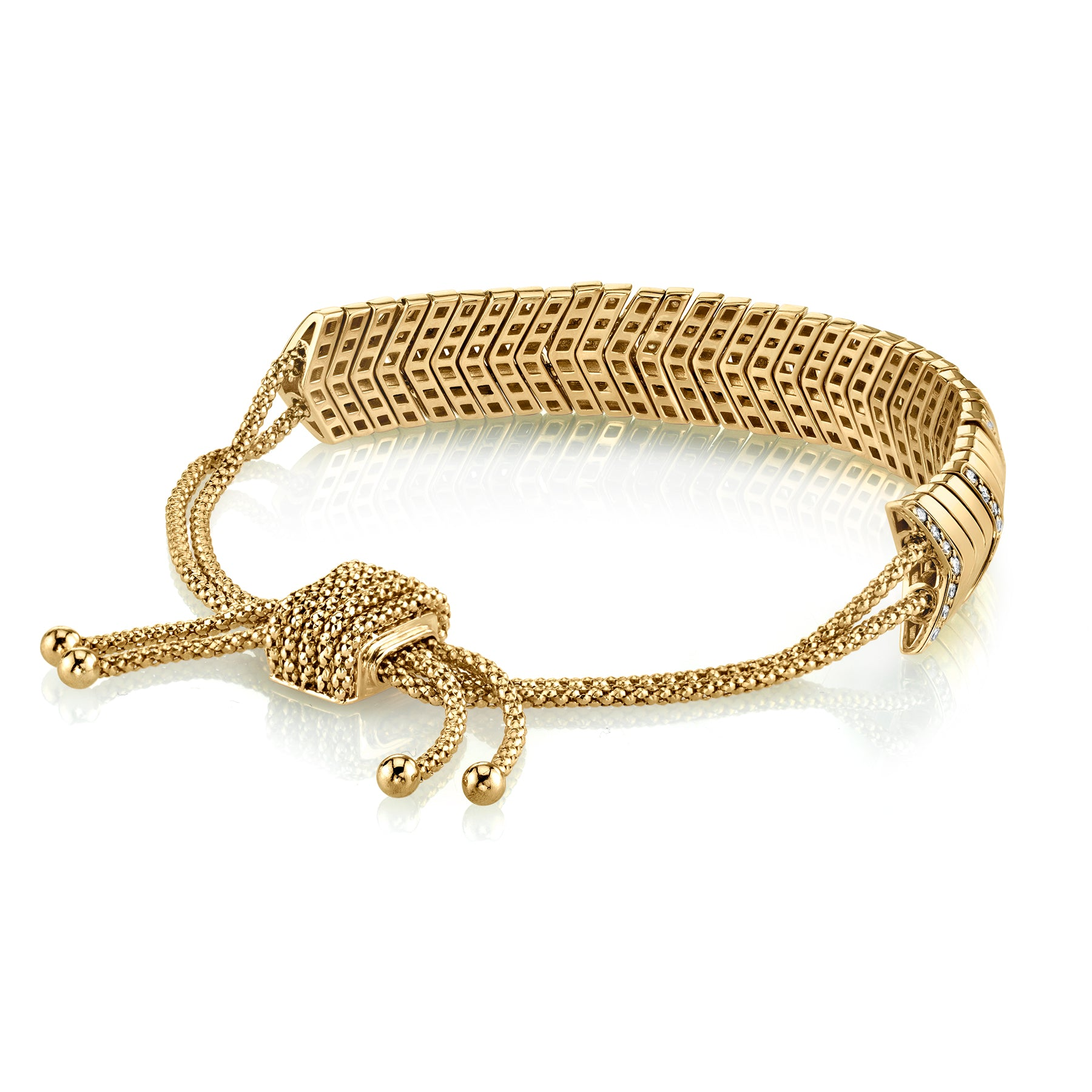 DIAMOND WIDE SNAKE LINK BRACELET