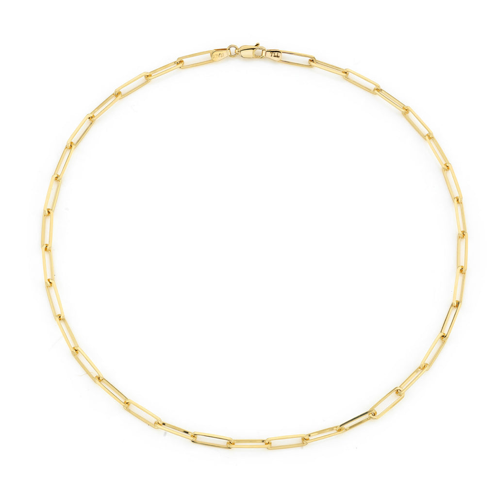 GOLD ULTIMATE RECTANGLE CHAIN NECKLACE