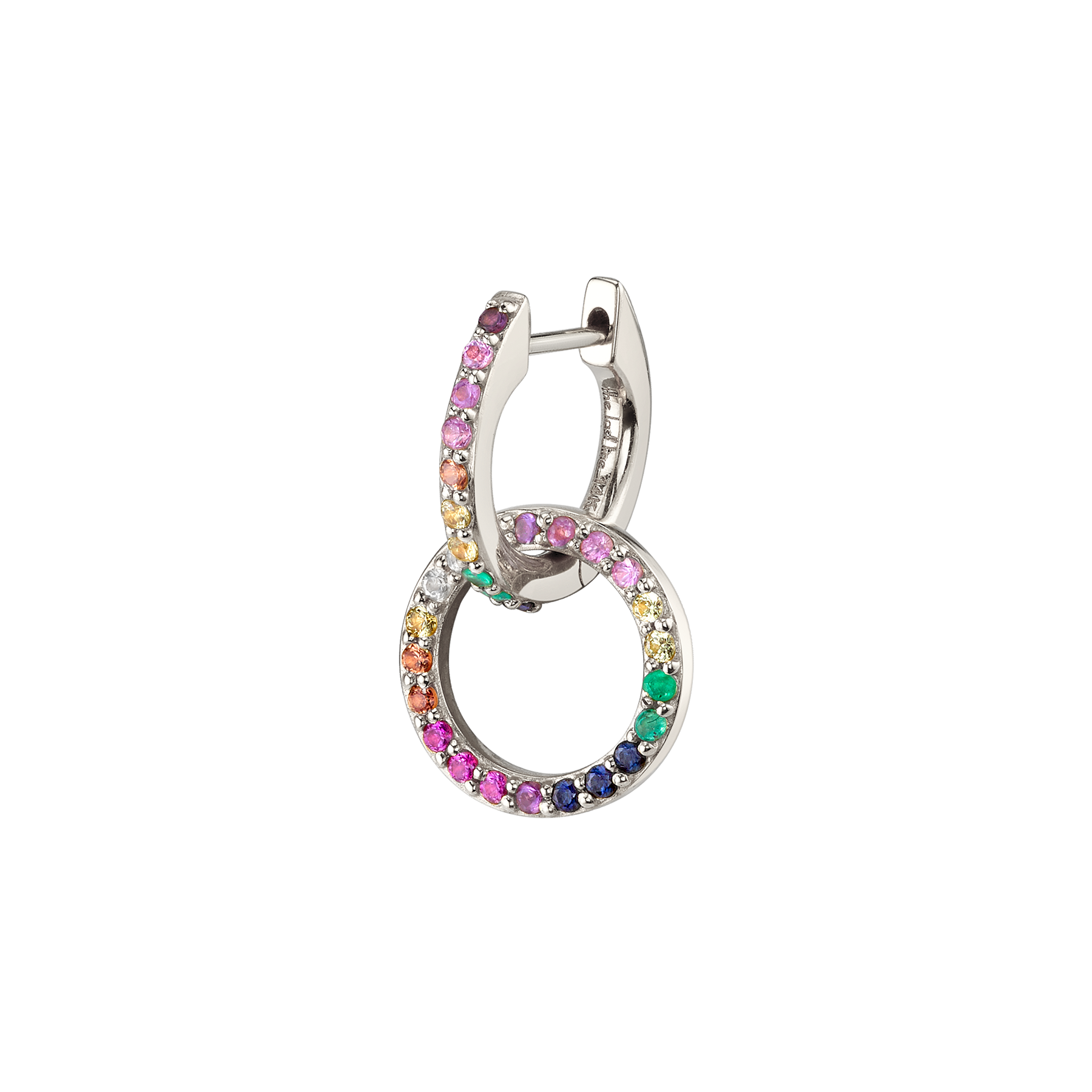 RAINBOW DOUBLE HOOP EARRING
