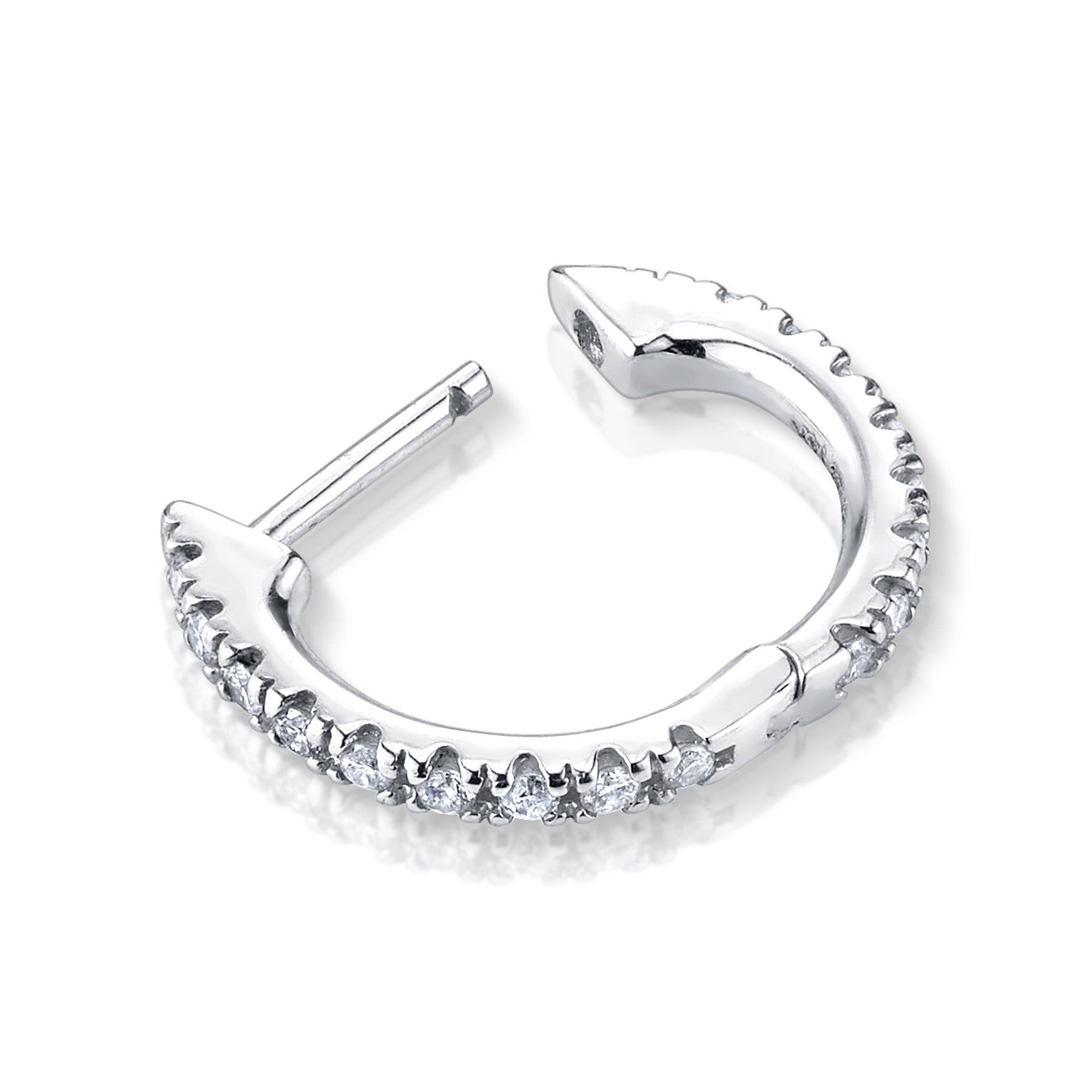 LARGE DIAMOND HUGGIE EARRING