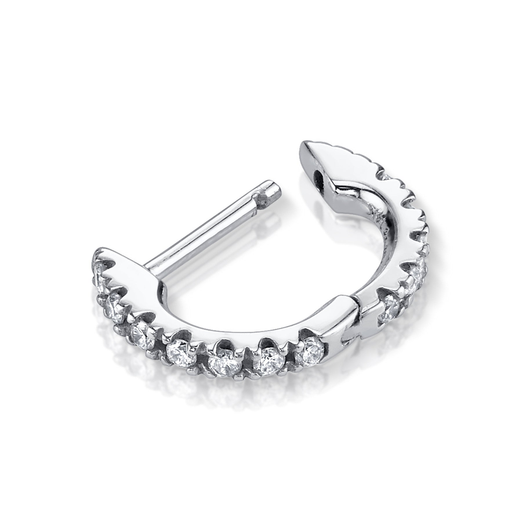 SMALL DIAMOND HUGGIE EARRING