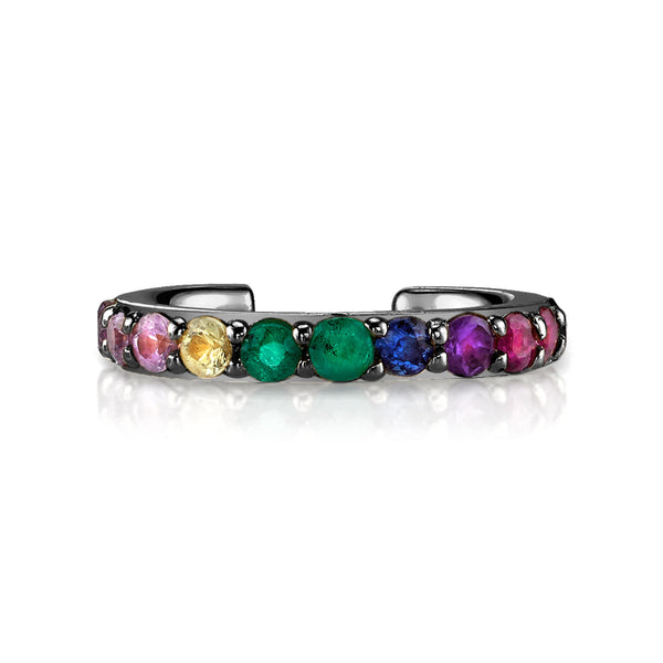 PERFECT BLACK GOLD RAINBOW EAR CUFF