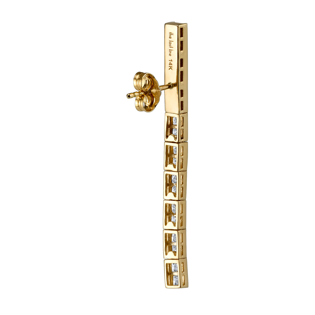 DIAMOND PRINCESS TENNIS EARRING