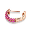 RUBY PAVE WIDE HOOP EARRING