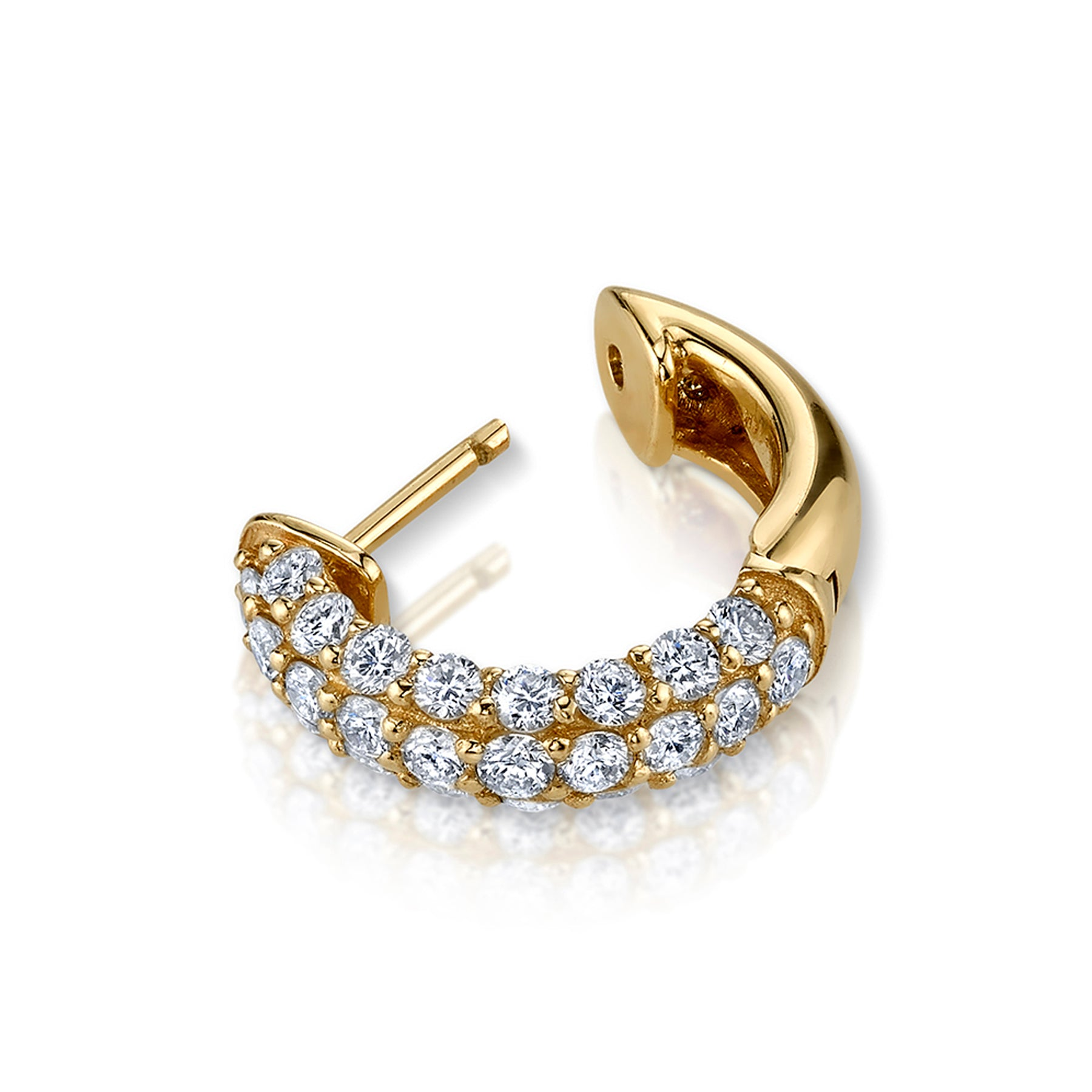 DIAMOND PAVE WIDE HOOP EARRING