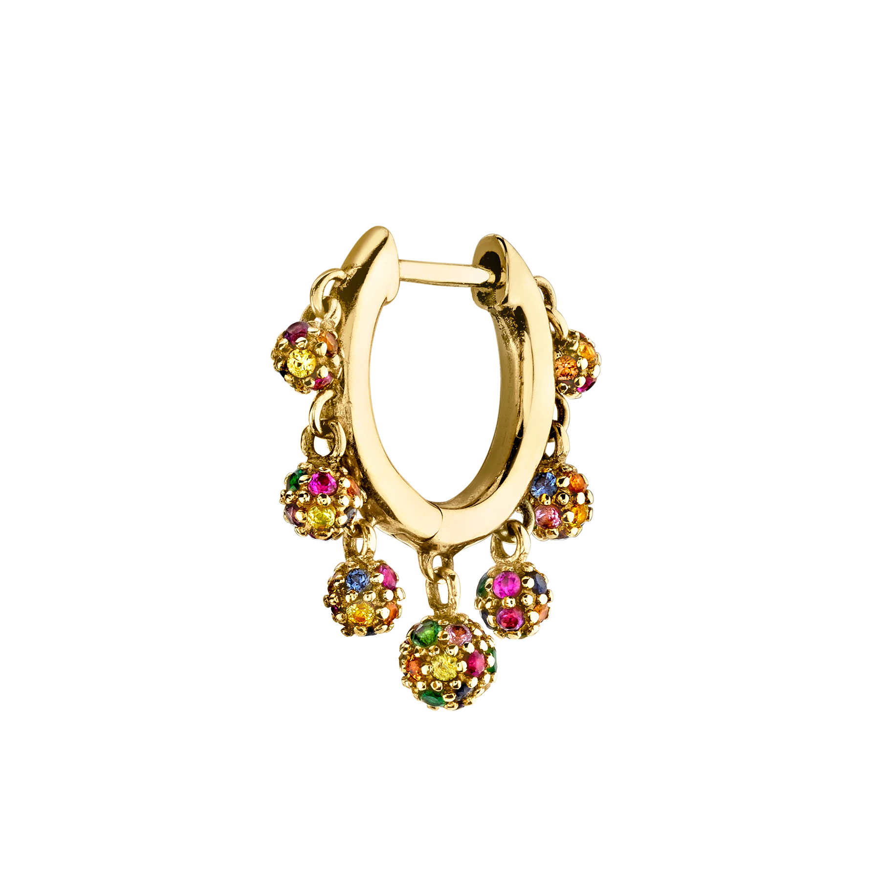 RAINBOW CHANDELIER SLIM HOOP