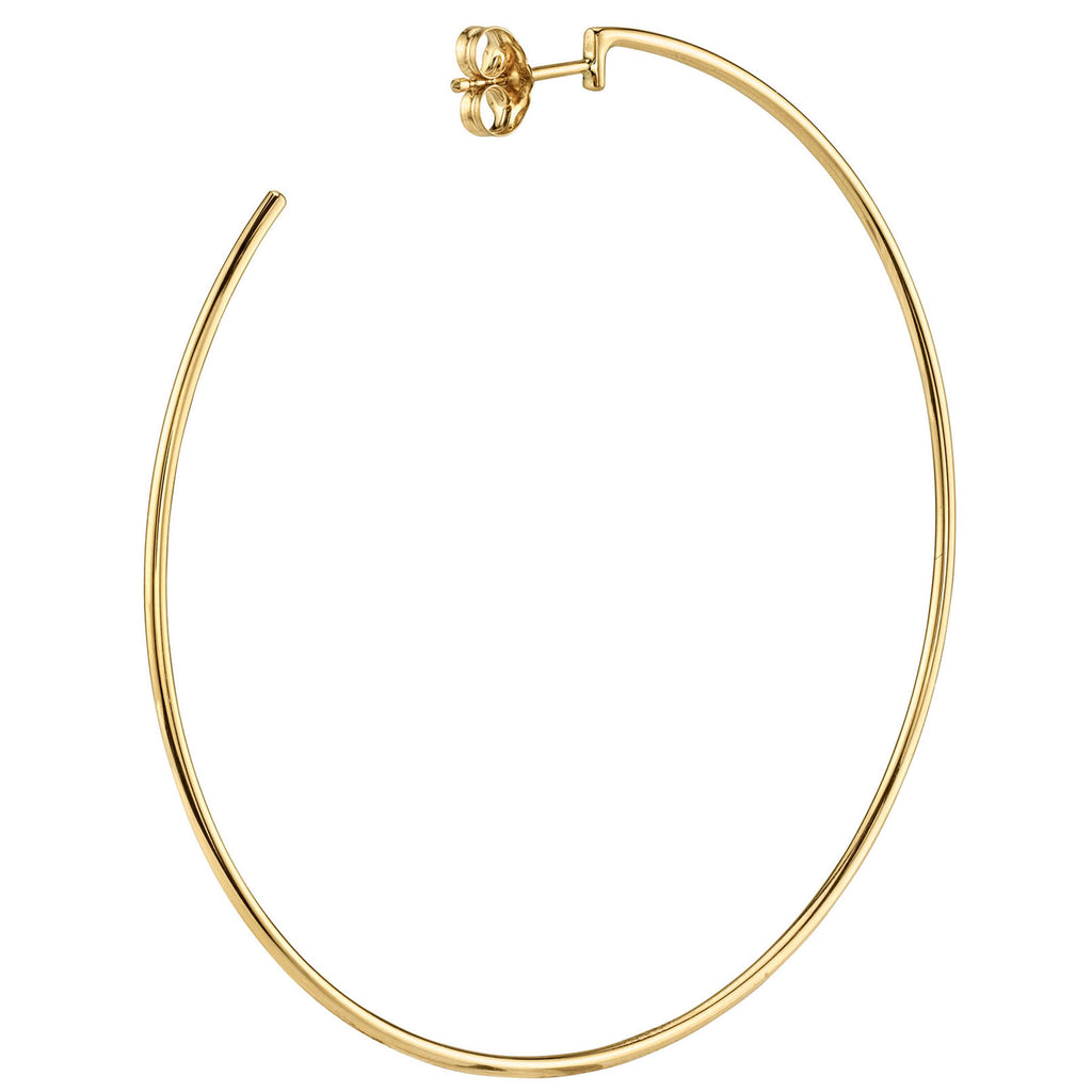 GOLD LARGE PERFECT HOOP EARRING