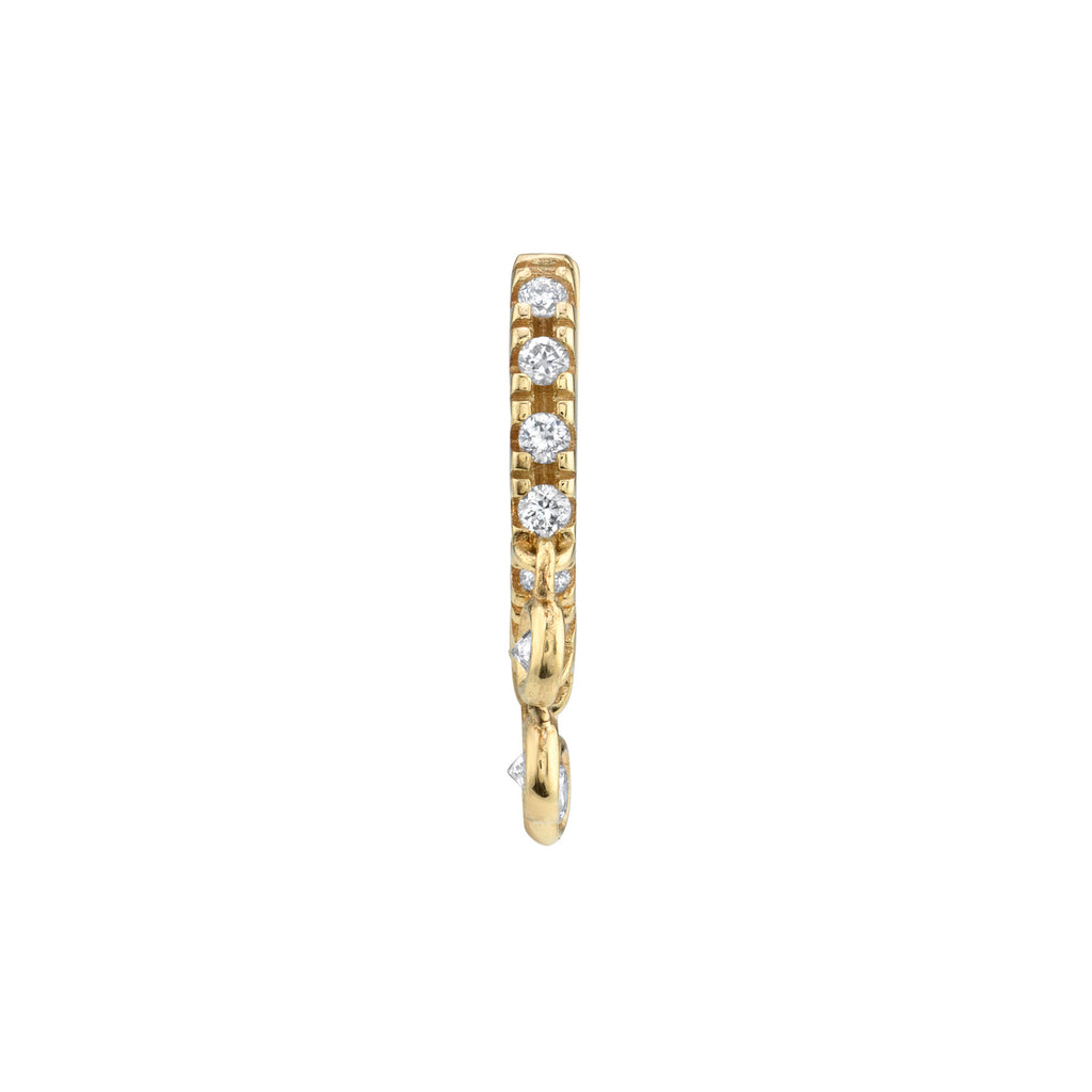 DIAMOND PETITE CHANDELIER HUGGIE EARRING