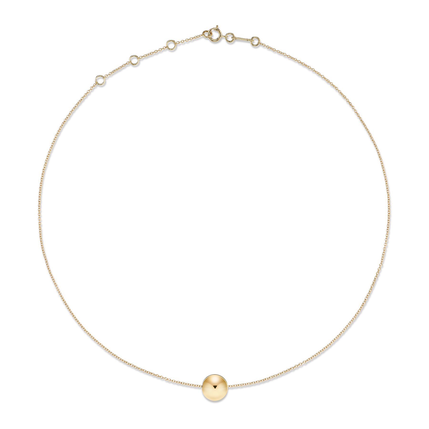 GOLD LARGE SPHERE NECKLACE