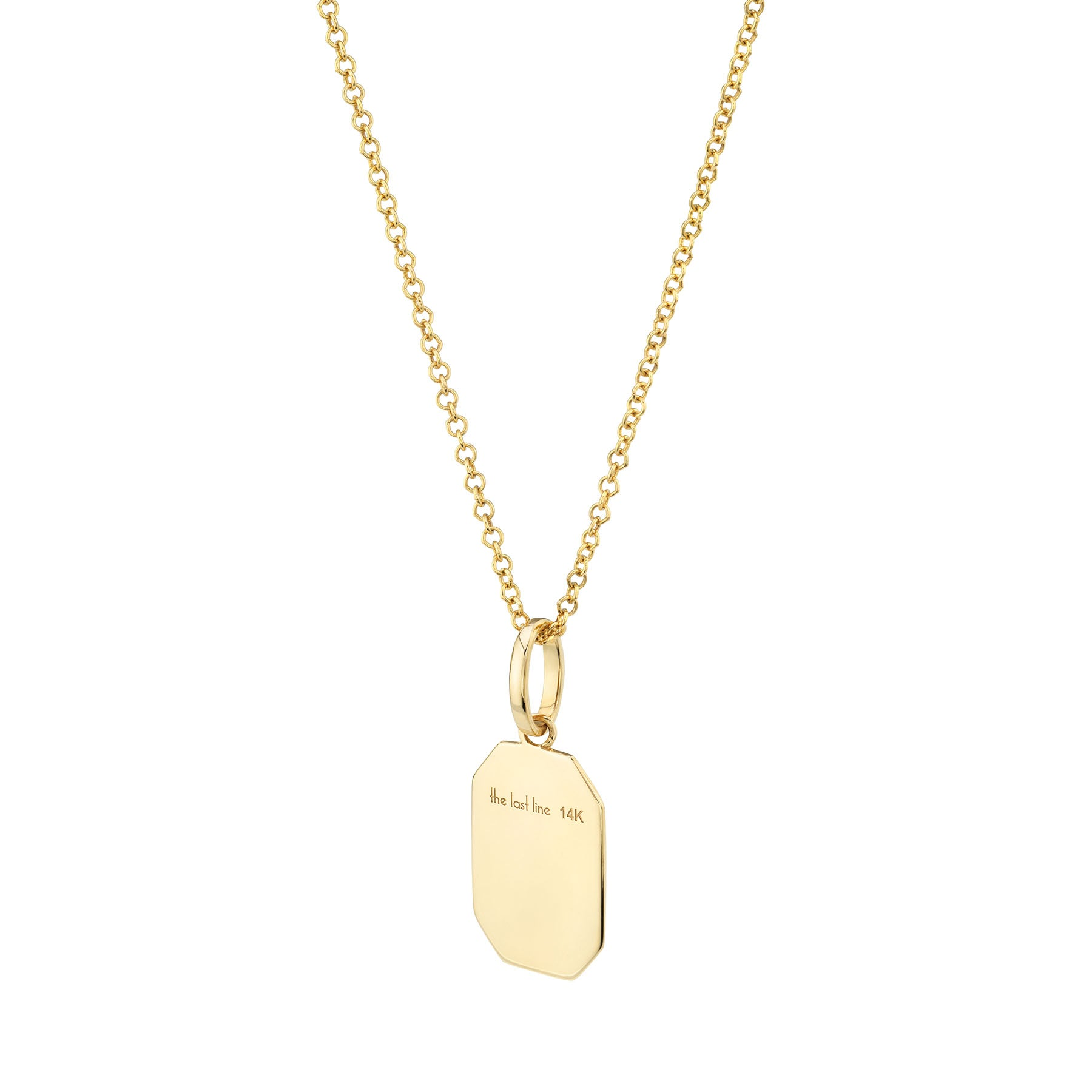 GOLD RECTANGLE PENDANT