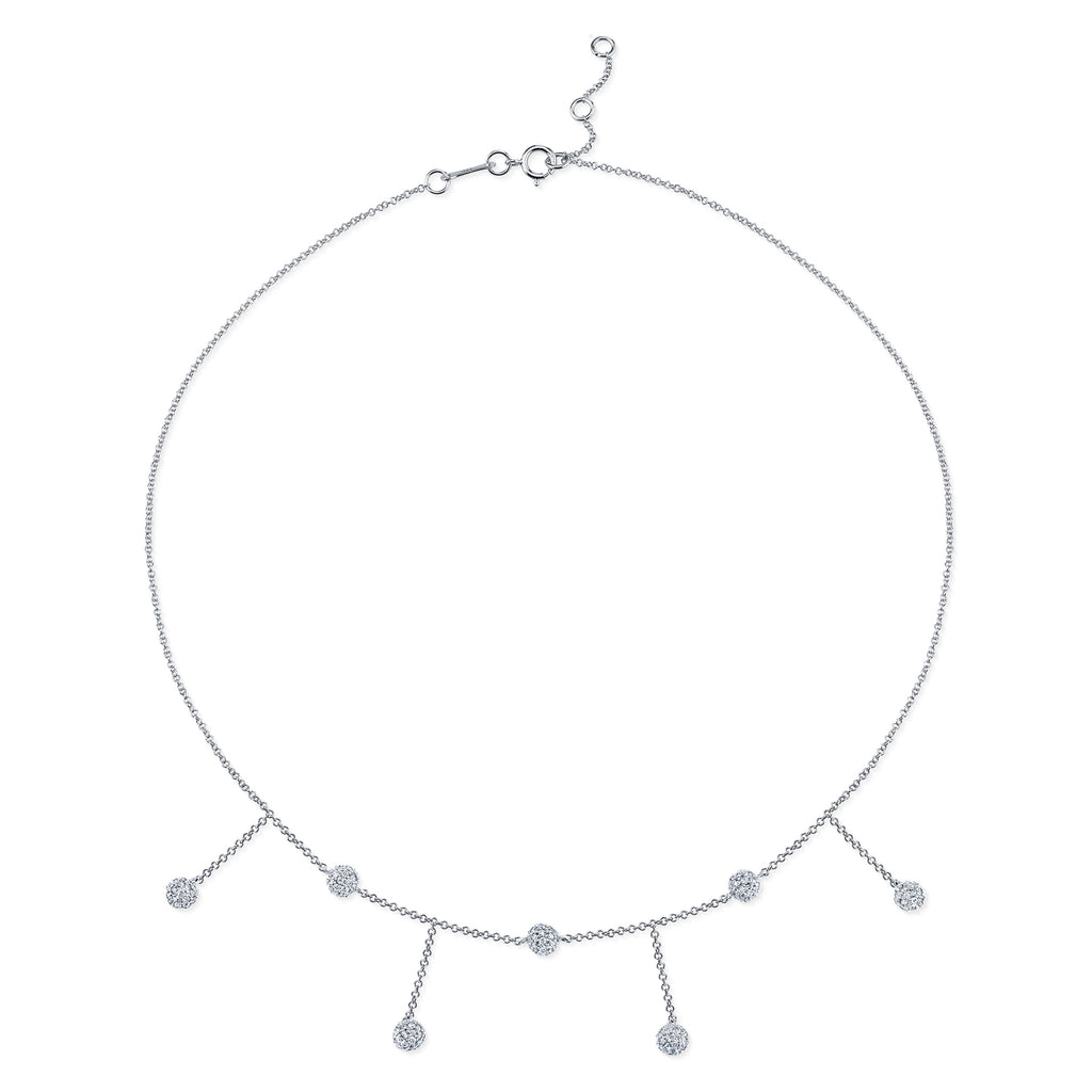 DIAMOND CHANDELIER SPHERE COLLAR NECKLACE