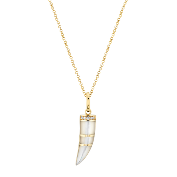 MOTHER OF PEARL HORN PENDANT