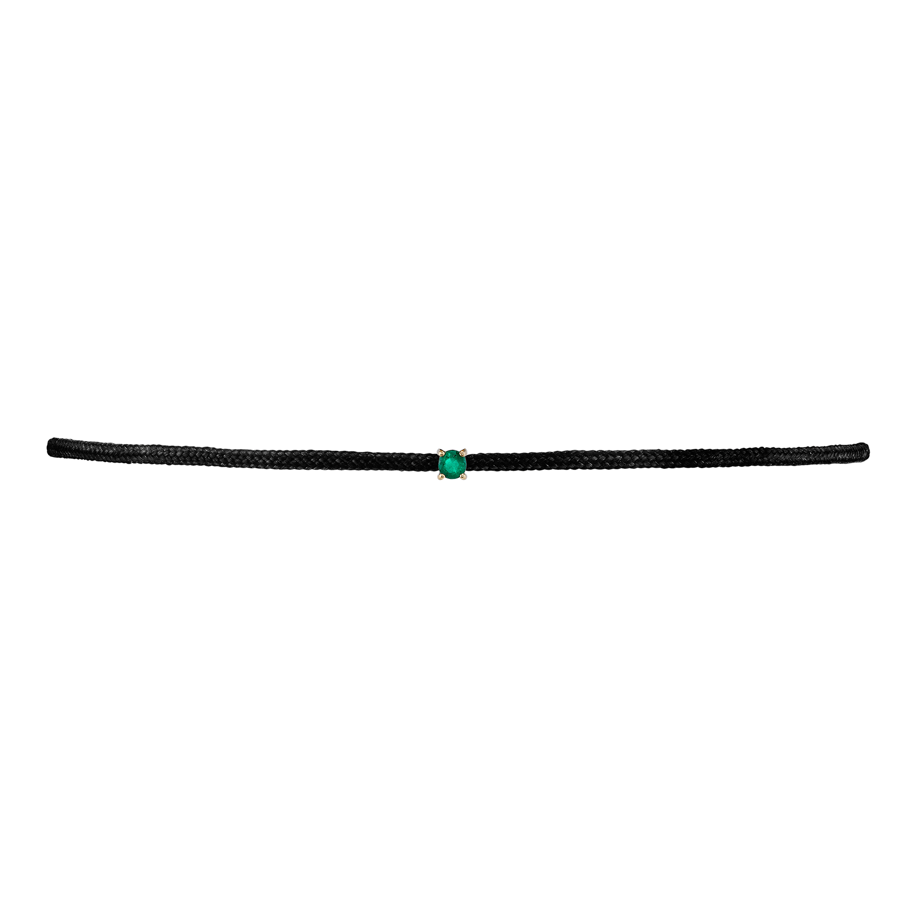SOLITAIRE EMERALD STRING NECKLACE