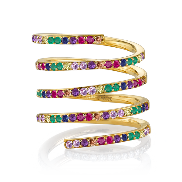 RAINBOW TALL WRAP RING
