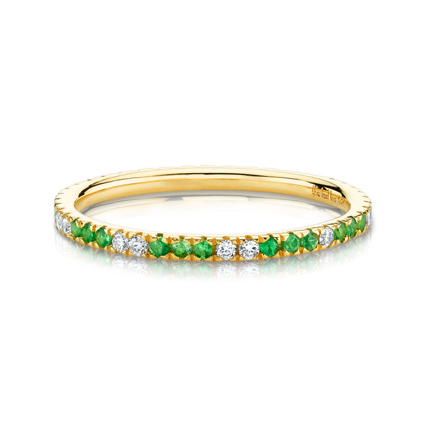 DIAMOND AND TSAVORITE ETERNITY BAND