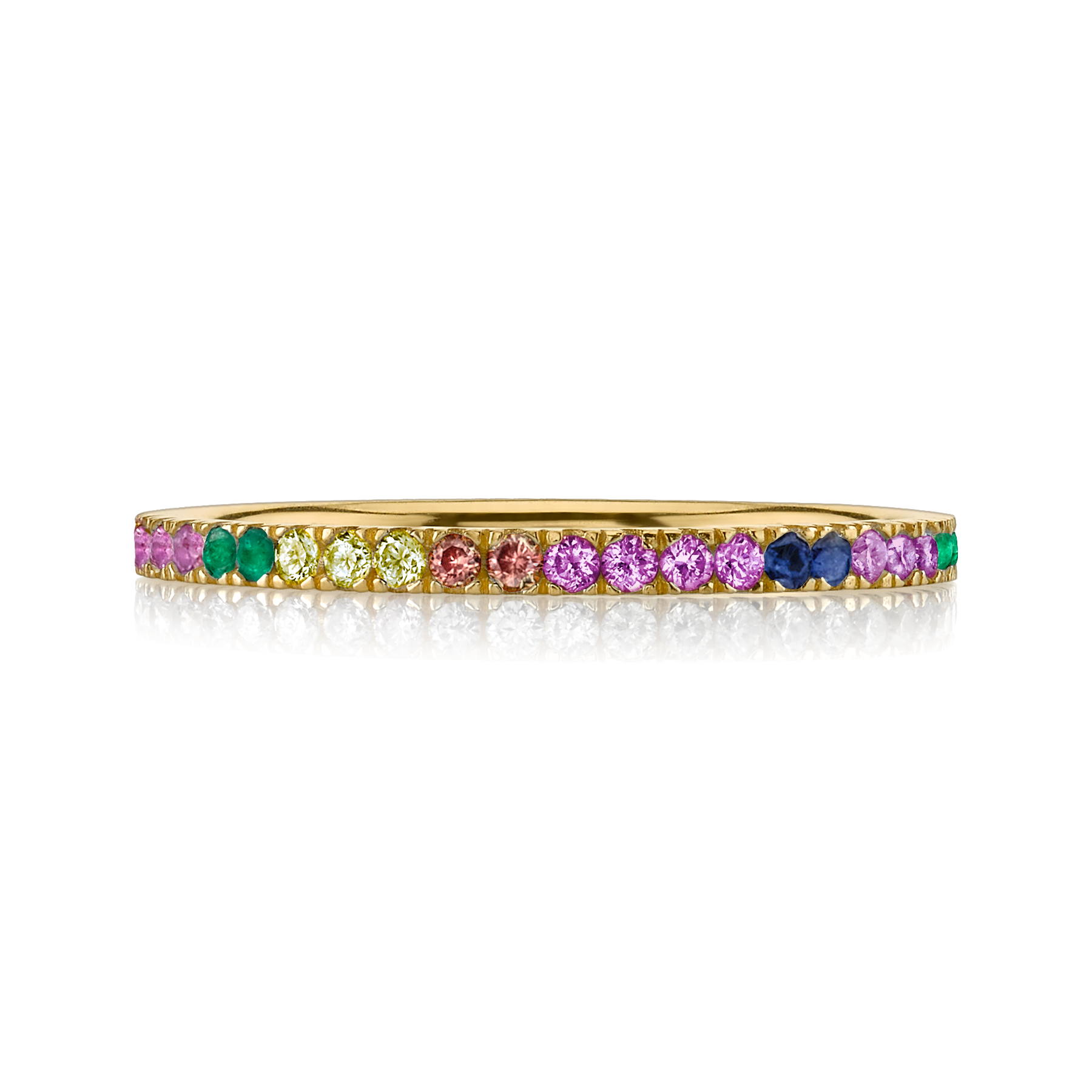 eternity products rainbow sapphire band bands