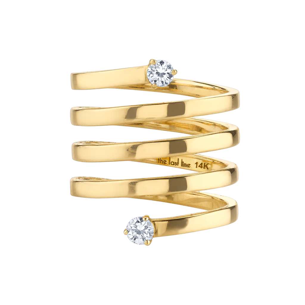 DIAMOND DOUBLE SOLITAIRE WRAP RING