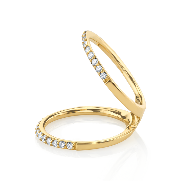 DIAMOND DOUBLE OPEN RING