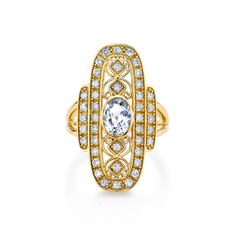 DIAMOND ANTIQUE COCKTAIL RING