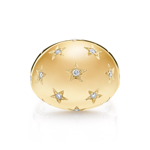 DIAMOND STAR BOMBE RING