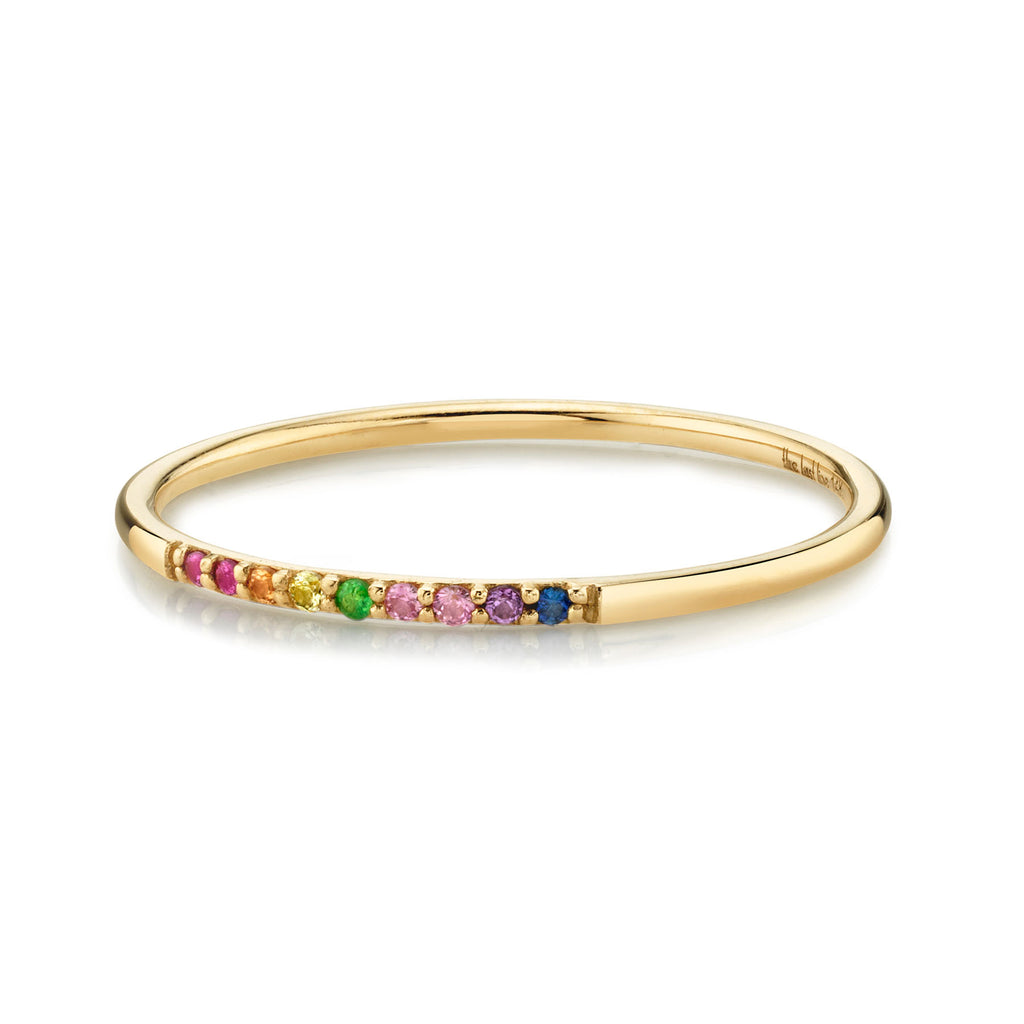 RAINBOW PAVÉ ROUND BAND