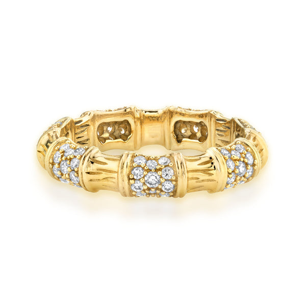 DIAMOND BAMBOO RING