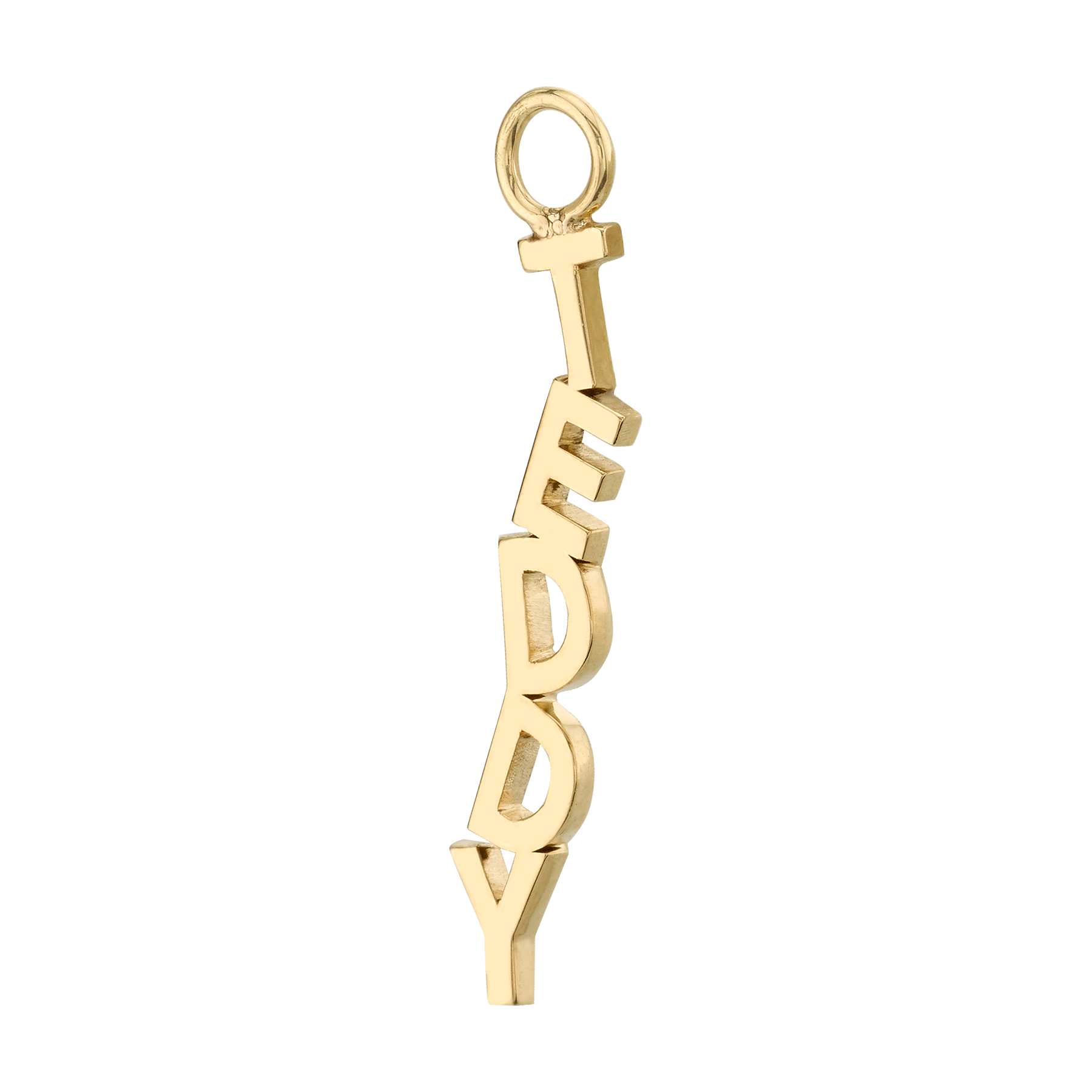 GOLD LETTER AND SYMBOL HOOP EARRING CHARM