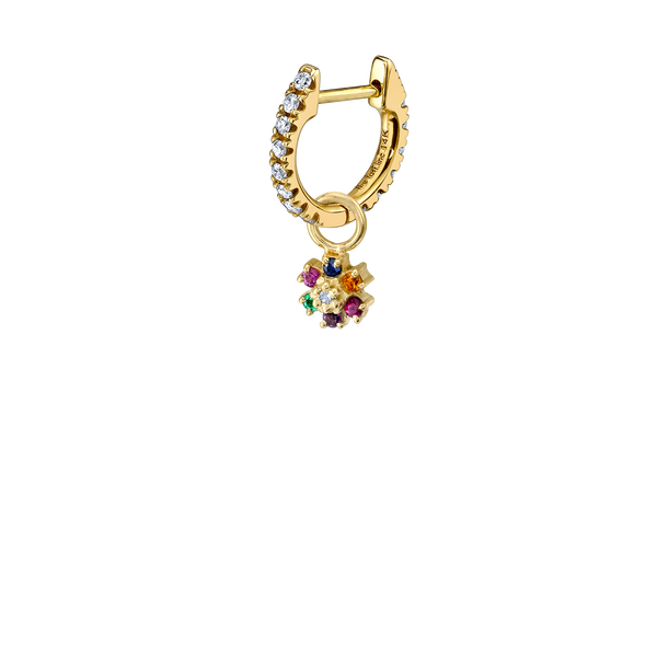 RAINBOW FLOWER HOOP EARRING CHARM