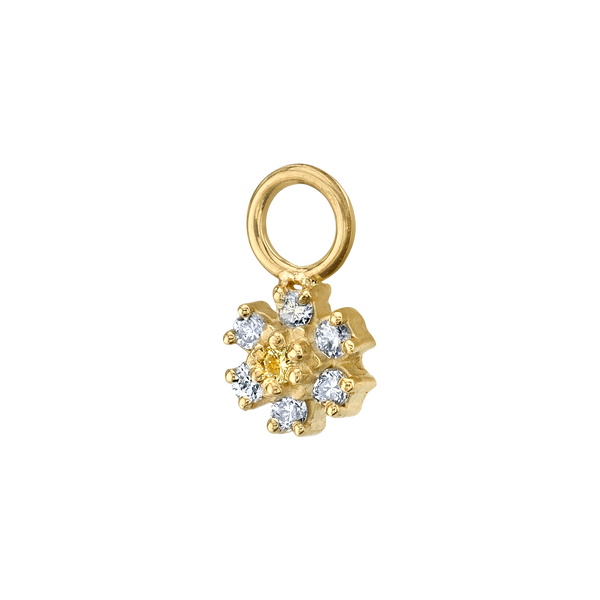 DIAMOND FLOWER HOOP EARRING CHARM