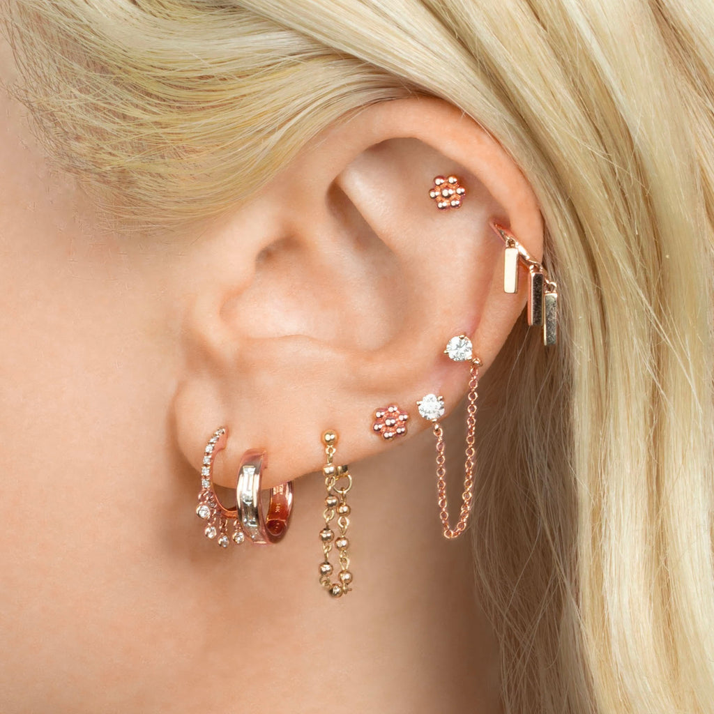 DIAMOND CHANDELIER HUGGIE EARRING