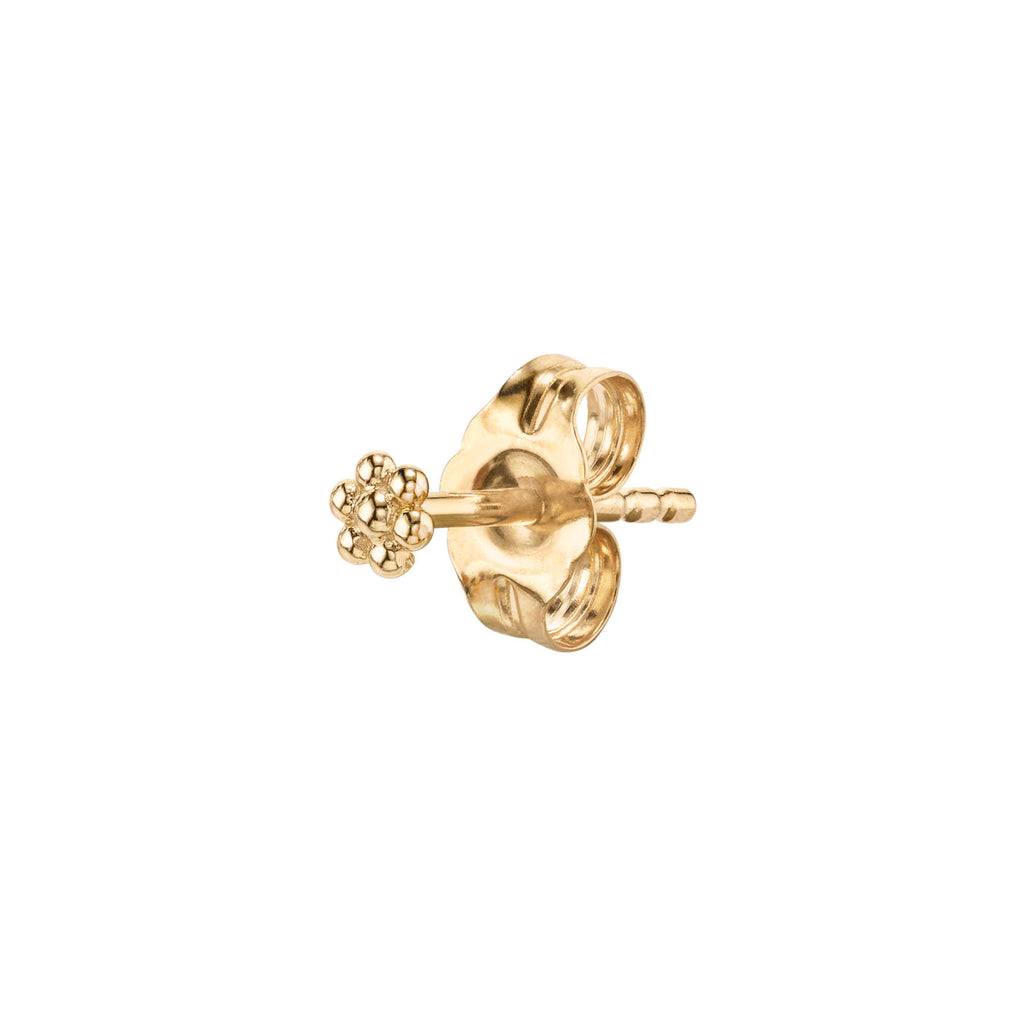 GOLD MINI FLOWER STUD EARRING