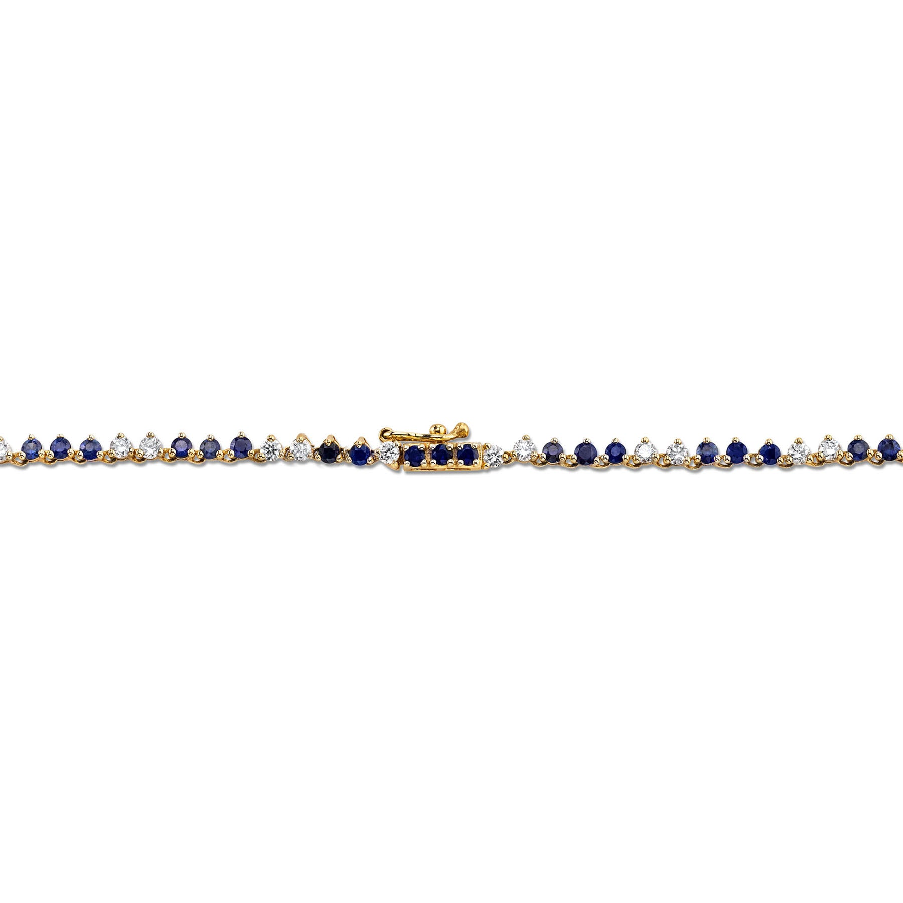 DIAMOND AND BLUE SAPPHIRE CLASSIC NECKLACE