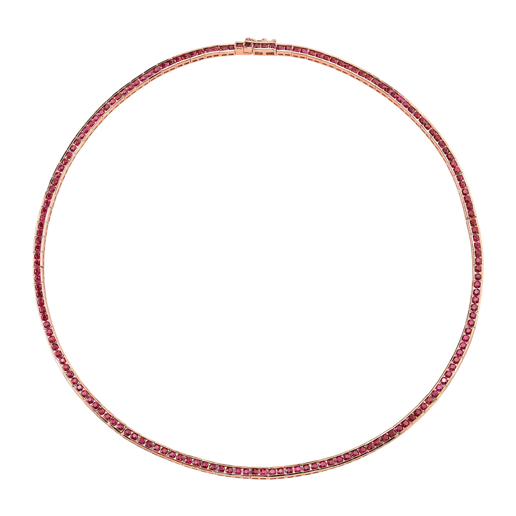 RUBY CHANNEL SET NECKLACE
