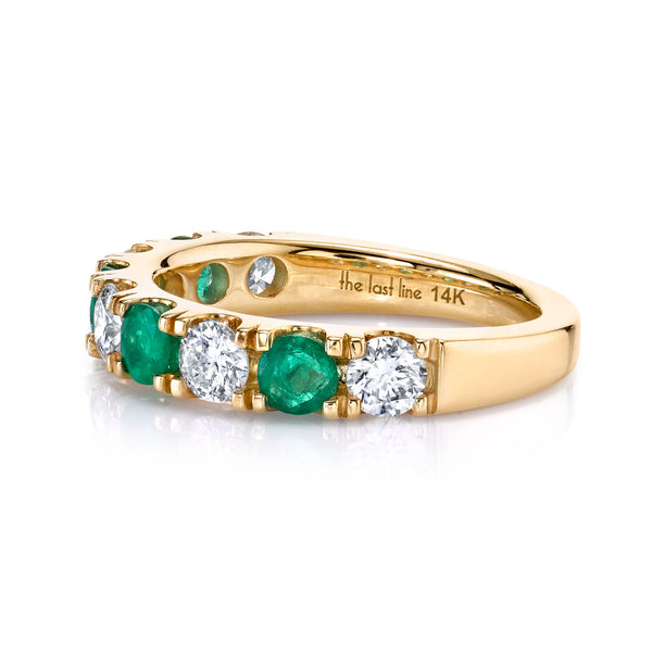 DIAMOND AND EMERALD CLASSIC BAND